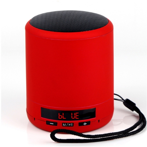 Mini Portable Bluetooth Speaker Wireless Column Bass Sound Stereo Subwoofer Handsfree AUX TF Card USB MP3 Player for Phone PC(Red)