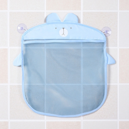 Multi-function Sundries Storage Bag Baby Bathroom Mesh Bag for Toys( Blue )