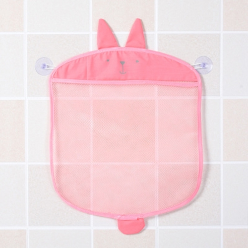 Multi-function Sundries Storage Bag Baby Bathroom Mesh Bag for Toys( Pink )