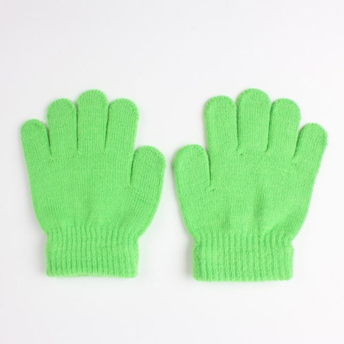 Kids Winter Half Full Finger Glove Children Warm Gloves 2 In 1 Knitted Mitten