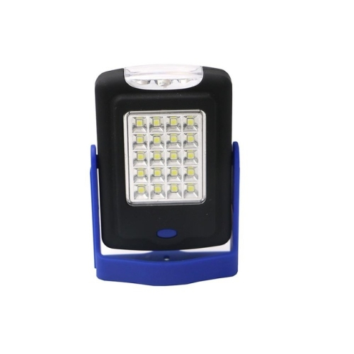 23 LEDs 2-modes Portable LED Overhaul Work Light Outdoor Camping Emergency Hand Lamp with Hook & Holder(Blue)