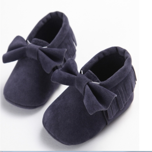 Cute Baby Shoes First Walkers Newborn Fringe Cotton Non-slip Moccasins 11-13cm