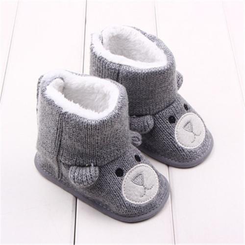 Cute Newborn Baby Boy Girls Socks Infant Cute Bear Crib Warm Shoes Socks Nice HK