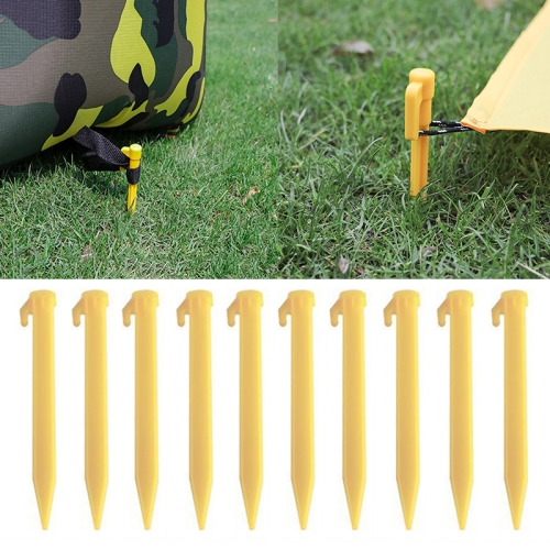Outdoor Travel Camping Tents Stakes PegsTrip Plastic Heavy Duty Tent Nails Fixing Tent Mat Stake 1 Set(4PCS)