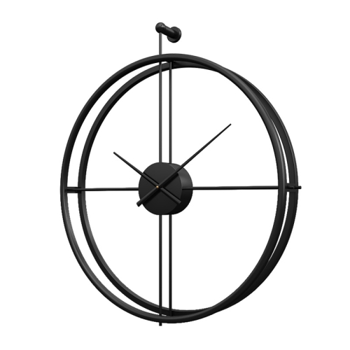 55cm Large Silent Wall Clock Modern Design Clock For Home Decor Office European Style Hanging Wall Watch Clock(Black)