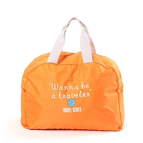 3 PCS Fashion Travel Bag Large Capacity Women Polyester Folding Bags Duffle Bag Waterproof Journey Handbags(Orange)
