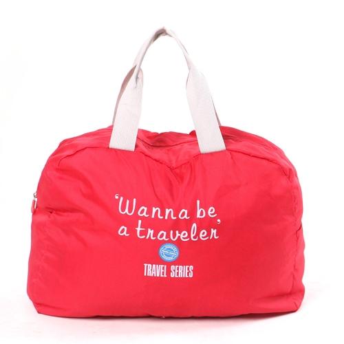 3 PCS Fashion Travel Bag Large Capacity Women Polyester Folding Bags Duffle Bag Waterproof Journey Handbags(Wine Red)
