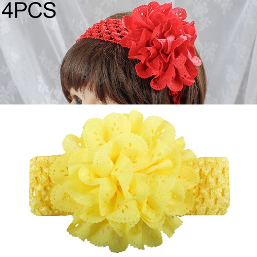 4 PCS Baby Girls Hair Accessories Flower Hollow Headband(4)