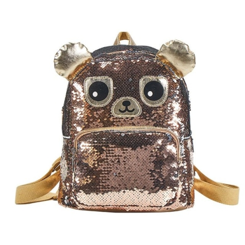 Fashion Waterproof Sequins Student Bag Travel Campus Backpack(Coffee)