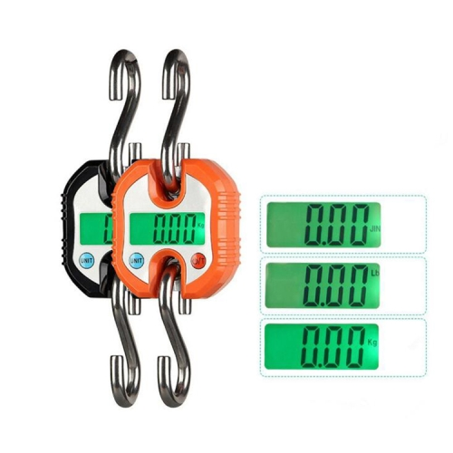 150kg Mini Portable Heavy Duty Electronic Digital Stainless Steel Hook Scale, Random Color Delivery