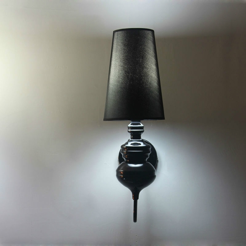 Simple Modern Study Living Room Bedroom Bedside Lamp Fashion Creative Corridor Aisle Foyer Wall Lamp, Size:S(Black)