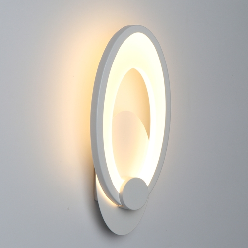 11W Modern SimplicityBedroom Wall Light Indoor Living Room Dining Room Decoration Lighting Stairway Corridor Light, Color Temperature:Three-color Dimmable