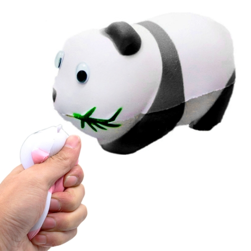 Simulation Panda Shape Squishy Slow Rising Toy Slow Rebound PU Stress Reliever Squeeze Toy(Black)