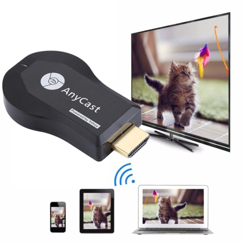 AnyCast M9 Plus Wireless WiFi Display Dongle Receiver Airplay Miracast DLNA 1080P HDMI TV Stick for iPhone, Samsung, and other Android Smartphones