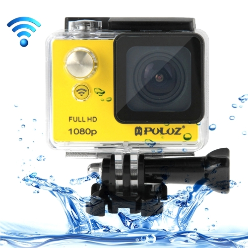 Buy PULUZ U6000 Full HD 1080P 2.0 inch LCD Screen WiFi Waterproof Multi-function Sport Action Camcorder, Novatek NT96650 Chipset, 175-degree Wide-angle Lens, Yellow for $70.07 in SUNSKY store