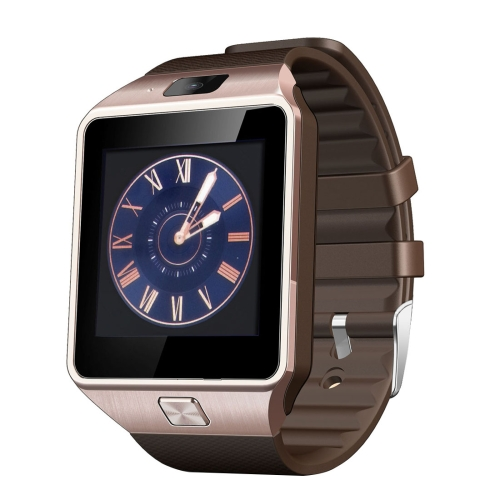 DZ09 1.56 inch Screen Bluetooth 3.0 Android 4.1 OS Above Smart Watch Phone with Bluetooth Call & Call Reminder & Sleep Monitor & Pedometer & Sedentary Reminder & Calendar & SMS & Audio and Video Player & Anti-loss Function, Gold