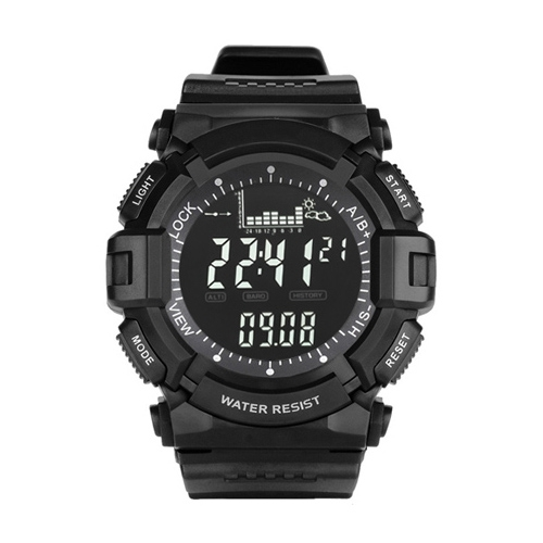 Buy Peak North Edge Men Fashion Professional Gear Shape Outdoor Sport Waterproof Climbing Hiking Smart Digital Watch, Support Thermometer & Weather Forecast, Black for $30.93 in SUNSKY store
