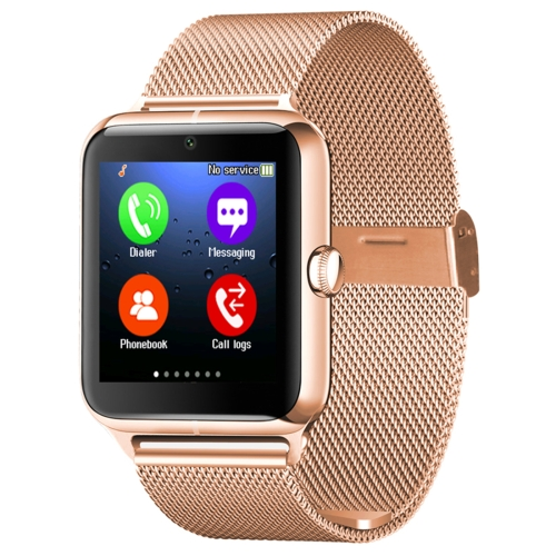 Z50 Smart Watch Phone, 1.54 inch IPS Touch Screen, Support SIM Card & TF Card, Bluetooth, GSM, 0.3MP Camera, Pedometer, Sedentary Alarm, Sleep Monitor, GPS, Remote Camera, Anti-lost Function(Gold) фото