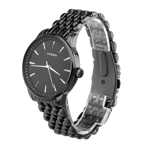 Buy SINOBI Round Dial Nailed Scale Rhombic lattice Veins Matte Dial Fashion Unisex Quartz Watch with Alloy Band, Black for $9.86 in SUNSKY store