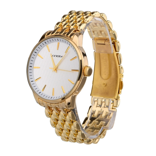 Buy SINOBI Round Dial Nailed Scale Rhombic lattice Veins Matte Dial Fashion Unisex Quartz Watch with Alloy Band, Gold for $9.86 in SUNSKY store
