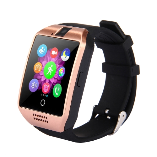 Buy Q18 1.54 inch TFT Screen MTK6260A 360MHz Bluetooth 3.0 Smart Bracelet Watch Phone with Pedometer & Sleeping Monitor & Calculator & Call Reminder & SMS / Wechat Alerts & Clock Display & Synchronous Music Play Call Answer & Recording & Alarm & Remote Camera Function, Support SIM Card & 32GB SD Card, 128M + 64M Memory, Gold for $11.33 in SUNSKY store