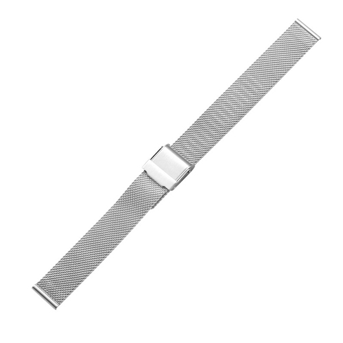 Buy CAGARNY Simple Fashion Watches Band Metal Watch Strap, Width: 14mm, Silver for $3.44 in SUNSKY store