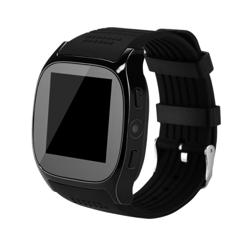 T8 Smart Watch Phone, 1.54 inch IPS Screen 6261D/260MHz, 0.3MP Camera, Support GSM & Dial & Pedometer & Anti-lost & Sleep Monitor & Remote Camera & FM Radio(Black)