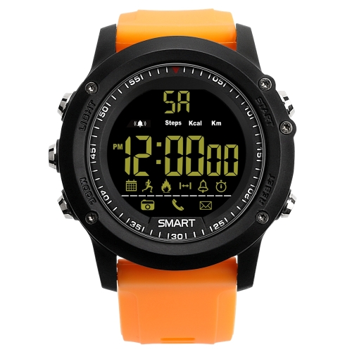 Buy EX17 Bluetooth 4.0 Smart Watch, 50m Professional Waterproof, Support Pedometer / Information Reminder / Data Analysis / Remote Camera, Orange for $14.55 in SUNSKY store