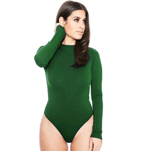 Buy Sexy Rompers Women Winter Long-sleeved Hollow Sling Slim Siamese Shorts Bottom Women Jumpsuit Night Clubbing Skirts Pants, Size: L, Green for $4.70 in SUNSKY store