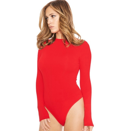 Buy Sexy Rompers Women Winter Long-sleeved Hollow Sling Slim Siamese Shorts Bottom Women Jumpsuit Night Clubbing Skirts Pants, Size: M, Red for $4.70 in SUNSKY store