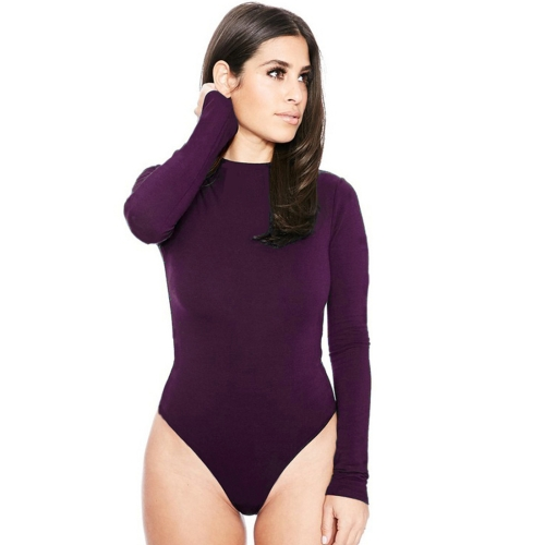 Buy Sexy Rompers Women Winter Long-sleeved Hollow Sling Slim Siamese Shorts Bottom Women Jumpsuit Night Clubbing Skirts Pants, Size: L, Purple for $4.70 in SUNSKY store