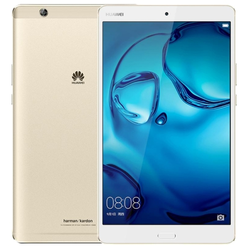 Huawei MediaPad M3 BTV-W09, 8.4 inch, 4GB+64GB, Official Global ROM, Fingerprint Identification & Navigation, 2K Dazzling Screen, EMUI 4.1 (Based on Android 6.0), Kirin 950 Octa Core up to 2.3GHz, GPS Dual Band WiFi, HiFi (Gold) silicon pu leather case for huawei mediapad m3 btv w09 btv dl09 8 4 inch smart sleep case cover tablet flip shell funda capa