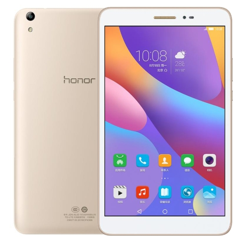 Huawei Honor Tablet 2 JDN-AL00, 8.0 inch, 3GB+32GB, Official Global ROM, EMUI4.0 (Android 6.0) Qualcomm Snapdragon 616 Octa Core 4x1.5GHz + 4x1.2GHz, WiFi, OTG, BT, GPS(Gold) case for huawei mediapad t2 8 0 pro wireless bluetooth keyboard 8 cover tablet jdn w09 jdn al00 inch