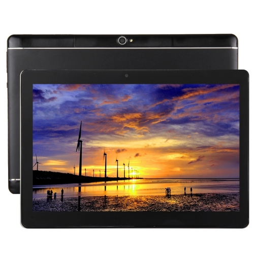 4G Phone Call, Tablet PC, 10.1 inch, 2GB+32GB, Support Google Play, Android 7.0 MTK6753 Cortex-A53 Octa Core 1.5GHz, Dual SIM, Support GPS, OTG, WiFi, Bluetooth(Black) original 10 1 tablets android octa core 32 64gb rom dual camera dual sim tablet pc 1920x1200 wifi otg gps bluetooth phone