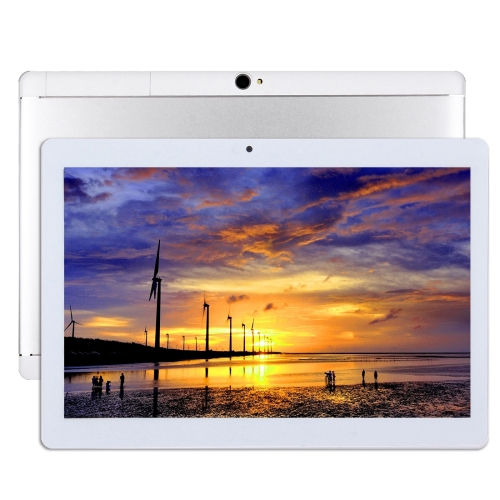 4G Phone Call, Tablet PC, 10.1 inch, 2GB+32GB, Support Google Play, Android 7.0 MTK6753 Cortex-A53 Octa Core 1.5GHz, Dual SIM, Support GPS, OTG, WiFi, Bluetooth(White)