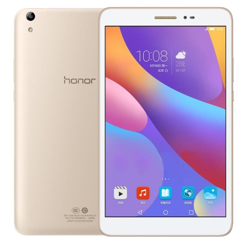 Huawei Honor Tablet 2 JDN-W09, 8.0 inch, 3GB+32GB, Official Global ROM, EMUI4.0 (Based on Android 6.0) Qualcomm Snapdragon 616 Octa Core, Dual Band WiFi, OTG, BT, GP(Gold) case for huawei mediapad t2 8 0 pro wireless bluetooth keyboard 8 cover tablet jdn w09 jdn al00 inch