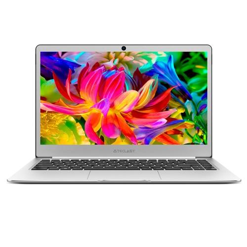Teclast F7 Laptop, 14.0 inch, 6GB+128GB, 37240mWh Battery, Windows 10 Home, Intel Apollo Lake N3450 Quad Core 1.1GHz-2.2GHz, Support TF Card & WiFi & Micro HDMI & Bluetooth(Silver) zeuslap x1 13 3 inch intel apollo lake 6gb ddr3 1920 1080p ips screen wifi bluetooth windows 10 ultrathin metal laptop computer