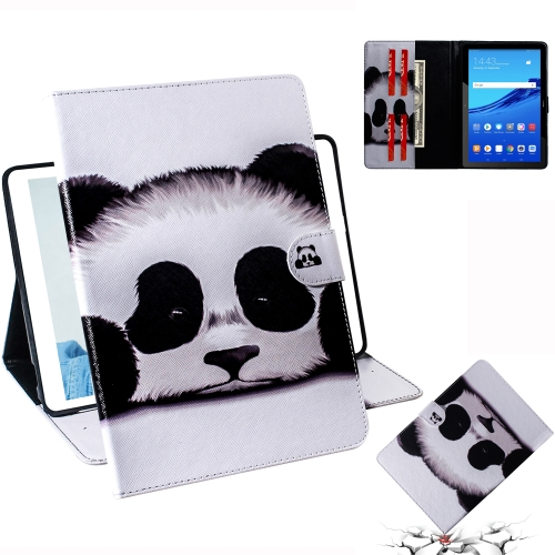 Panda Pattern Horizontal Flip Leather Case for Huawei MediaPad T5, with Holder & Card Slot & Wallet