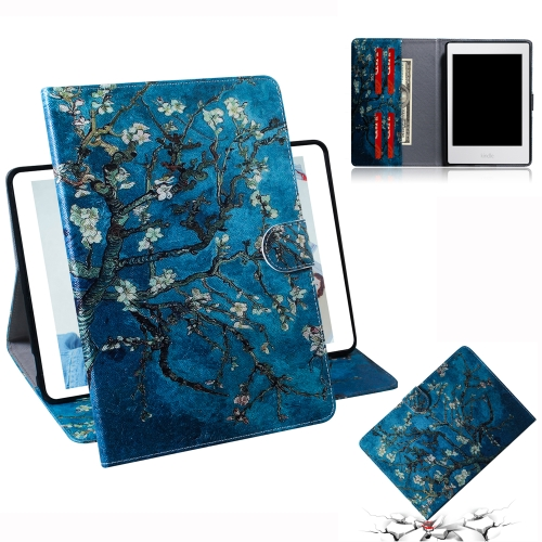 Apricot Blossom Pattern Horizontal Flip Leather Case for Amazon Kindle Paperwhite 4 (2018) / 3 / 2 / 1, with Holder & Card Slot & Wallet