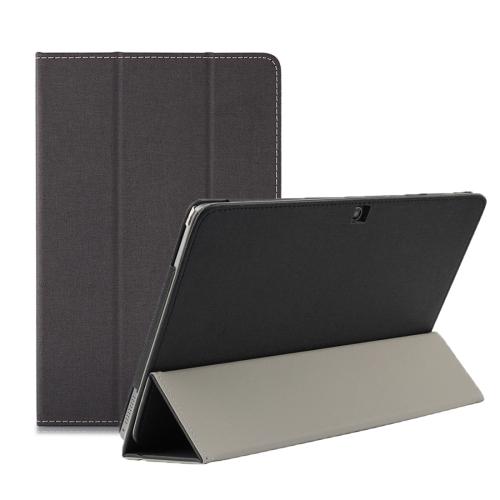 Horizontal Flip Leather Case for CHUWI HI10 AIR, with 3-folding Holder(Black)