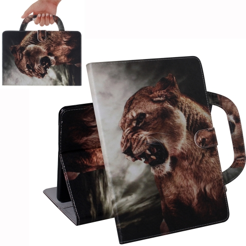 Lion Pattern Horizontal Flip Leather Case for Amazon Kindle Fire HD 8 2015/2016/2017/2018, with Holder & Card Slot & Wallet
