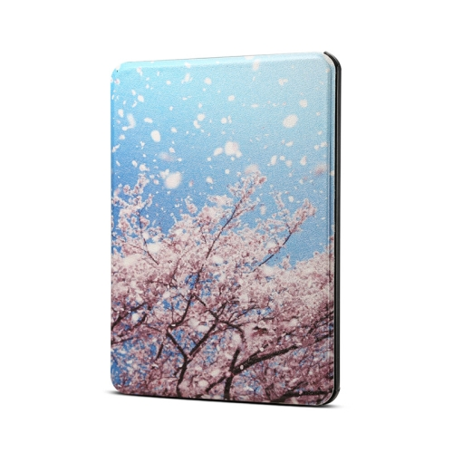 Cherry Pattern Horizontal Flip PU Leather Protective Case for Amazon Kindle 2019, with Sleep & Wake-up Funtion