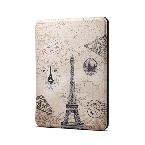 Eiffel Tower Pattern Horizontal Flip PU Leather Protective Case for Amazon Kindle 2019, with Sleep & Wake-up Funtion