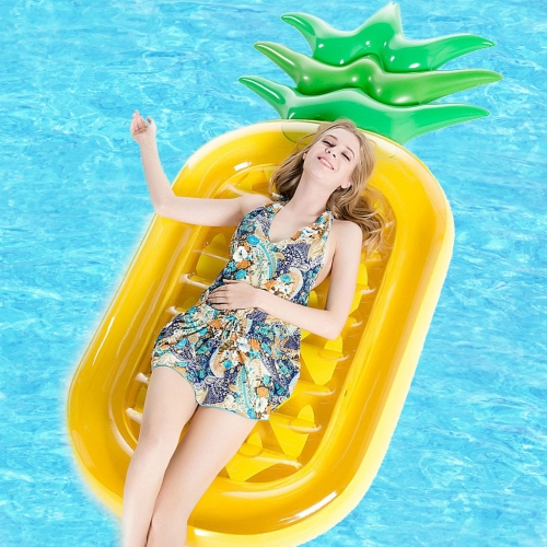 Buy Inflatable Pineapple Shaped Floating Mat Swimming Ring, Inflated Size: 185x80cm for $17.34 in SUNSKY store