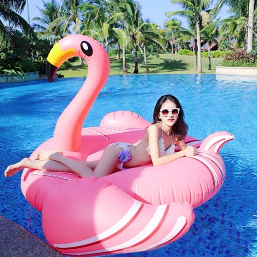 Buy Inflatable Flamingo Shaped Floating Mat Swimming Ring, Inflated Size: 190x200x130cm for $22.05 in SUNSKY store