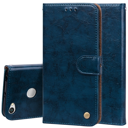 Buy Xiaomi Redmi Note 5A Pro / Prime Business Style Oil Wax Texture Horizontal Flip Leather Case with Holder & Card Slots & Wallet & Lanyard, Blue for $1.74 in SUNSKY store