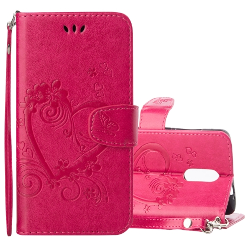 Buy Xiaomi Redmi Note 3 Pressed Flowers Butterfly Love Pattern Horizontal Flip Leather Case with Holder & Card Slots & Wallet & Lanyard & Photo Frame, Magenta for $2.69 in SUNSKY store