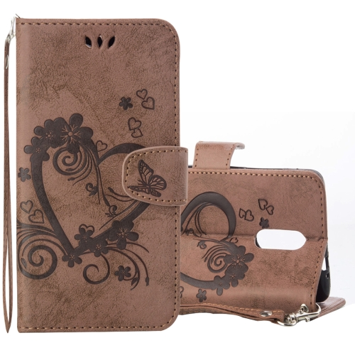 Buy Xiaomi Redmi Note 3 Pressed Flowers Butterfly Love Pattern Horizontal Flip Leather Case with Holder & Card Slots & Wallet & Lanyard & Photo Frame, Brown for $2.69 in SUNSKY store