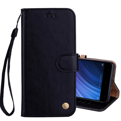 Buy Xiaomi Redmi 4A Business Style Oil Wax Texture Horizontal Flip Leather Case with Holder & Card Slots & Wallet & Lanyard, Black for $2.42 in SUNSKY store