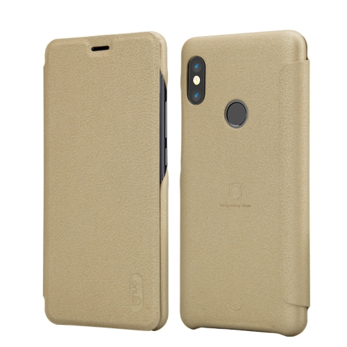 Lenuo Ledream Series for Xiaomi Redmi Note 5 Pro Litchi Texture Horizontal Flip Protective PU Leather Case with Card Slot(Gold)